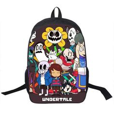 Undertale Sans Backpack Boys Girls School Bags YBookbag Shoulder Backpacks - Animetee - 17