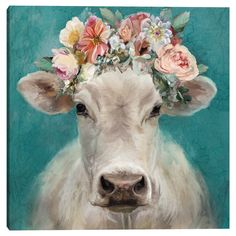 Cow Canvas, Canvas Frame, Canvas Art Prints, Canvas Wall Art, Farmhouse Paintings, Cow Art, Cow Wall Art, Barn Wood Frames, Square Canvas