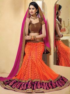 Fabric - Chiffon, Jacquard & NetColor - Golden, Orange & Rani PinkWork - Border Work & Hand WorkOccasion - Festival, Wedding & Party Wear Colours May Slightly Vary Or May Not, From What You See On Your Monitor With The Actual Piece. This May Be Because Of Monitor Resolution Or Picture Tube Variances. The Image Shown Is Shot From The Master Piece And We Always Ensure We Send You The Exact Shown Coloured Product With The Same Workmanship And Prints. Products With Dyeing Work May