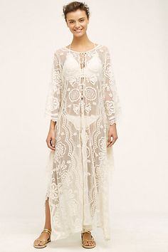 Boracay Lace Caftan #anthropologie