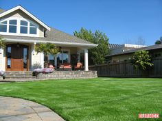 Aritficial turf creates a beautiful lawn with easy maintenance #BURNCO  #landscaping #artificialgrass  https://www.burncolandscape.com/