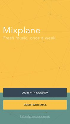 Splash screen: Music player / Rick Waalders