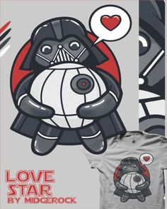 Unconditional planet destroying love. Makes great for a Valentine gift for that very special nerd in your life. $24.54