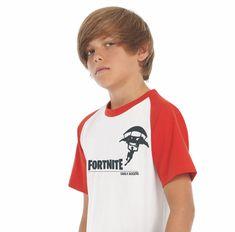Kids Baseball T-shirt Navy Rood/wit FORTNITE