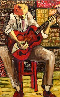 """Cliff Speaks (Mississippi Artist) ~ """"Cat House Blues"""""""