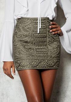 9a78dcda1a LIVELY SKIRT KHAKI, hi-res | IvyRevel Khaki Skirt Outfits, Kaki Outfits,
