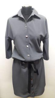 Pohodlné šaty sivé