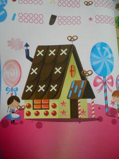 Werkblad snoepjes tellen (Hans & Grietje)  (vakantieboek Averbode)