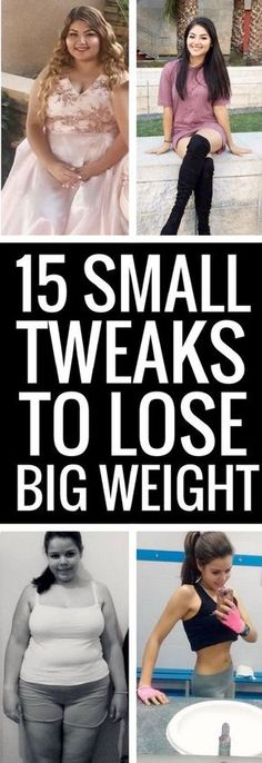 15 smallest changes to lose the biggest weight.