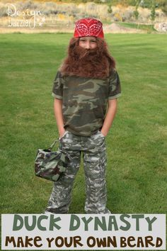 DIY: Duck Dynasty Make Your Own Beard - Design Dazzle #Halloweencostume #DuckDynast, #DIYHalloweencostume