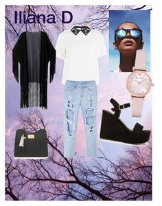 """dreaming casual"" by drakouiliana on Polyvore featuring Sportmax, WithChic, Nly Shoes, Le Specs and Emporio Armani"