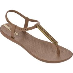 Ipanema Flip-flops - Ipanema Premium Pietra Fem Brown ($51) ❤ liked on Polyvore featuring shoes, sandals, flip flops, brown, ipanema flip flops, ipanema, brown shoes, ipanema shoes and brown flip flops