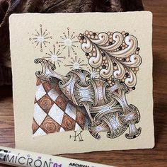 #zentangle #zendoodle #doodle #tangle #zenart #illustration #pendrawing #ペン画#ゼンタングル #イラスト #パターンアート #coloredpencil #色鉛筆