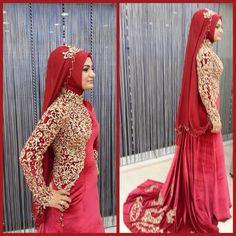Hijab dress... Red
