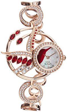 Titan Raga Analog Mother of Pearl Dial Women's Watch - http://brandedstore.in/product/titan-raga-analog-mother-of-pearl-dial-womens-watch-95005wm01j/
