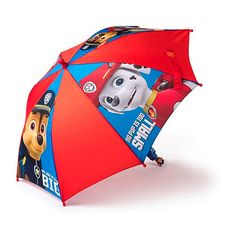 If you get caught in rain, the Paw Patrol has you covered! The Paw Patrol Umbrella features character graphic panels and text logo with hook and loop strap closure, and character themed handle.