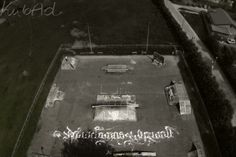 Calligraffiti shot from helicopter ;)