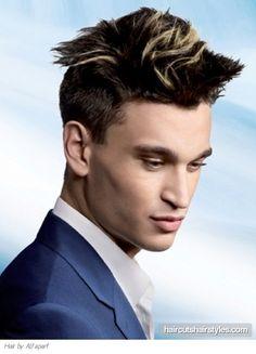 Chic Men Hair Color Idea