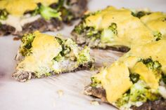 This cheesy broccoli meatza is the answer to your pizza cravings with a more keto-friendly crust, broccoli, and high-quality fats!