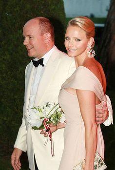 Albert de Monaco et sa femme