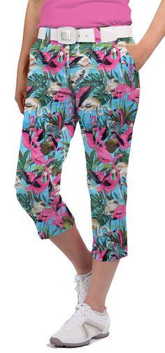 a4b476459a8d Pink Flamingos Women s Capri by Loudmouth Golf