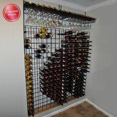 Wine Enthusiast 144 Bottle Black Tie Grid Wine Rack - Buy Wine Coolers  - 2