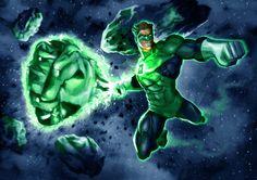 Green lantern by LeeBaba on DeviantArt Comic Book Heroes, Comic Books Art, Comic Art, Book Art, Green Lantern Hal Jordan, Green Lantern Corps, Green Lanterns, Flying Type Pokemon, Superhero Pictures