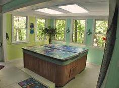Indoor hot tub room.. yes, Please! | Hot Tubs | Pinterest | Hot tub ...