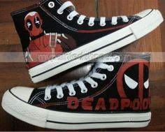 Marvel Deadpool Custom Sneakers Painted Canvas Shoes