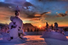 Blazing Sunset On Mount Rainier by kevin mcneal, via Flickr.  #travel #mountrainier