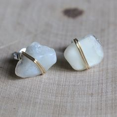 MoonStone Earrings Motherhood Healing Crystals by TheSaltyCrystal