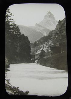 Glass Magic lantern slide THE MATTERHORN . C1900 SWITZERLAND L65 | eBay