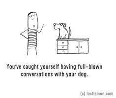 Beszélgetsz a kutyáddal. Ismerős?