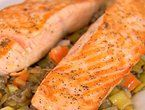 Salmon with Warm French Lentils (best lentil recipe ever -- and yes, you need that much salt).