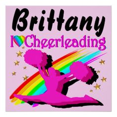 PINK PERSONALIZED I LOVE CHEERLEADING POSTER Awesome Cheerleading posters and wall art to inspire your Cheerleader http://www.zazzle.com/mysportsstar/gifts?cg=196898030795976236&rf=238246180177746410   #Cheerleading #Cheerleader #Cheerleadinggifts #Cheerleadingposter #PersonalizedCheerleader