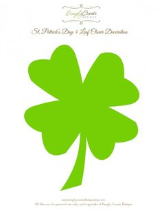 Free printable four leaf clover