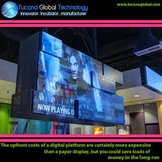 The #upfront costs of a #digital #platform are certainly more #expensive than a paper #display, but you could save loads of #money in the #long run. #TucanaGlobalTechnology #Manufacturer #HongKong