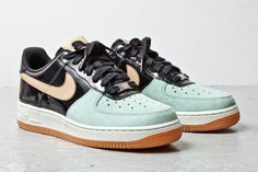 official photos a2bac 6f1c2 Nike Air Force 1 07 (Tan Mint Black) - Sneaker Freaker