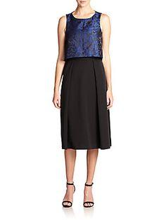 Black Halo Irelynn Brocade Dress