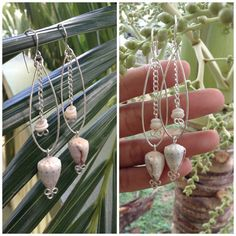 Sterling Silver dangles with cone shell and puka by SandeeSavini, $25.00