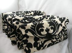Bridal Pack-7 Purses--Black and Oatmeal Damask--Essence Onyx-- Bridal Purse/Clutch/Evening Bag--ENVELOPE CLUTCH--10% DISCOUNT
