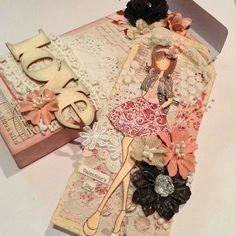 Handmade box for my Prima Doll Tag created by Bona Rivera-Tran.