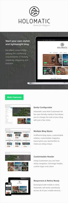 Holomatic – Minimal WordPress Theme For Bloggers