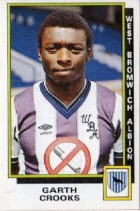 Garth Crooks of West Brom in Football Stickers, Football Cards, Football Players, Baseball Cards, West Bromwich Albion Fc, Premier League Teams, Everton Fc, Retro Football, Sports Day