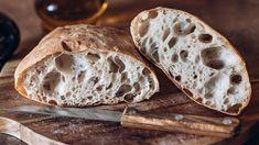 Öt perc munkával készül a friss ciabatta reggelire Naan, Bakery, Paleo, Goodies, Food, Breads, Honey Butter, Olive Bread, 4 Ingredients