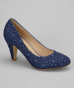 Look what I found on #zulily! Blue Kimmy Pump by Chase & Chloe #zulilyfinds