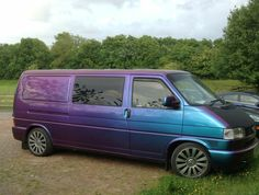 Started life as a plumbers van,I've lowered it hand polished the wheels, sprayed it special effects blue,in my mates old hay shed. Vw Bus, Volkswagen, Vw T4 Transporter, Audi A4 B7, T5 Camper, Vanz, Chevy Pickups, Commercial Vehicle, Vw Beetles