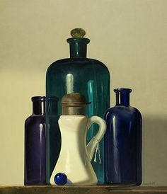 Robert E. Zappalorti, Transparent and Opaque, 2008, oil on board, 14 X 12 inches