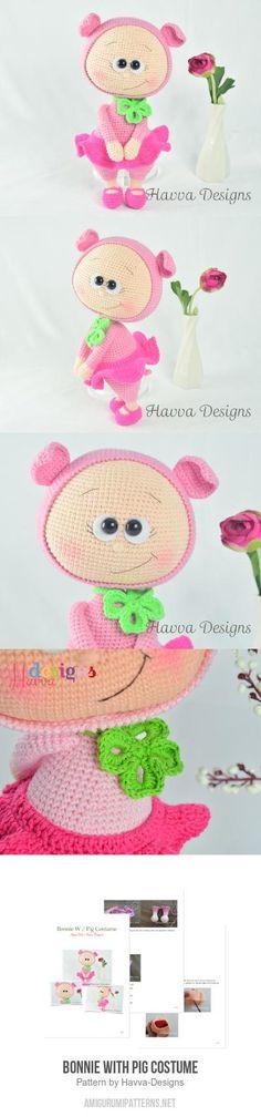 Bonnie With Pig Costume amigurumi pattern