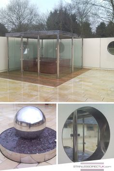 We also do #outdoor stuff! Outdoor glass walled hot-tub area with stainless steel frame and roof, a giant marble and a bespoke porthole cutout - nothing is too extraordinary!